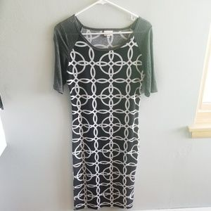 LuLaRoe XS Black and White Dress